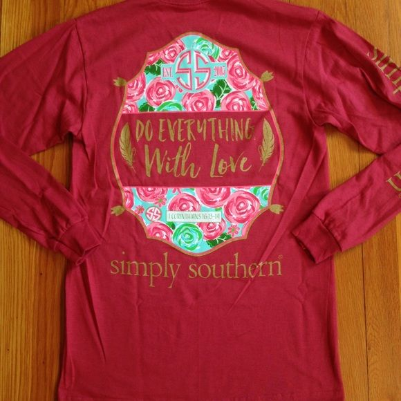 Long Sleeve Simply Southern Shirt NWT Brand new. Price is firm unless bundled. Simply Southern Tops Tees - Long Sleeve