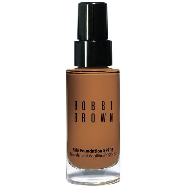Bobbi Brown Skin Foundation Broad Spectrum Spf 15 ($50) ❤ liked on Polyvore featuring beauty products, makeup, face makeup, foundation, warm almond, hydrating foundation, bobbi brown cosmetics, moisturizing foundation, oil free foundation and long wear foundation