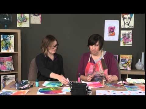 Art Journal Color Courage with Dina Wakley and Amy Jones PREVIEW - YouTube