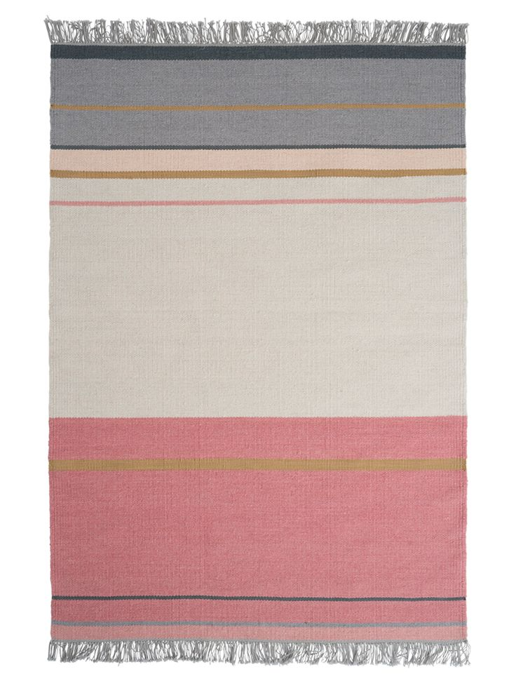 An exquisite, multi tonal blush rug, each piece is hand woven from wool and polyester for a superbly durable rug with all the beautiful softness of wool. The artisan nature of the weaving means that each rug is unique, with natural variations in the tone and finish. With a subtle silver yarn running through each rug, the striped finish has a gentle, elegant shimmer in certain lights.This product is not available for Next Day Delivery in the UK and due to the size and weight of this item it…