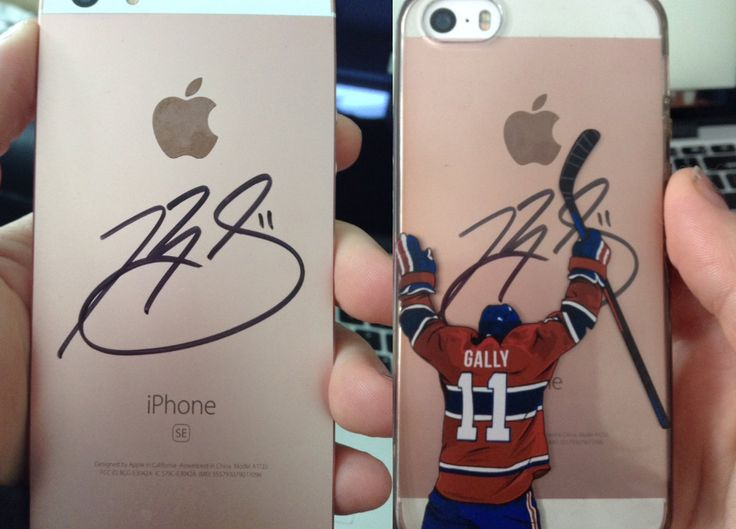 "Our ""Ga11y"" hockey phone cases hand signed by Gally himself."