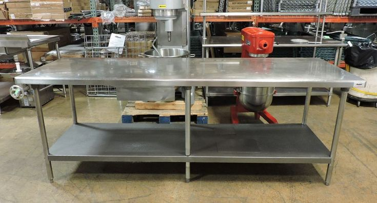"""Commercial Stainless Steel Work Table with Drawer and Undershelf - 96"""" x 30"""""""