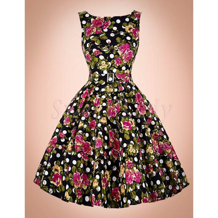Veselé farebné šaty vo vintage štýle