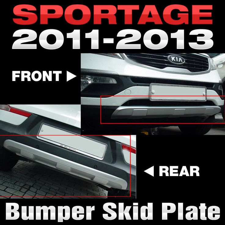 Front Bumper Skid Rear Diffuser Skirt Plate 2Pcs For KIA 2011 - 2015 Sportage R #HANS #FrontSkidRearDiffuser