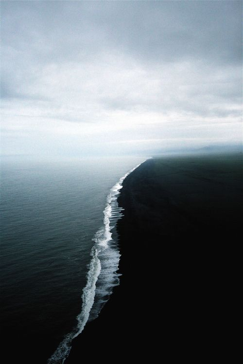 Skagen is in the nothernmost point of Denmark where the Baltic and North Seas meet... the two opposing tides meet but can not merge because the two bodies of water have different densities.