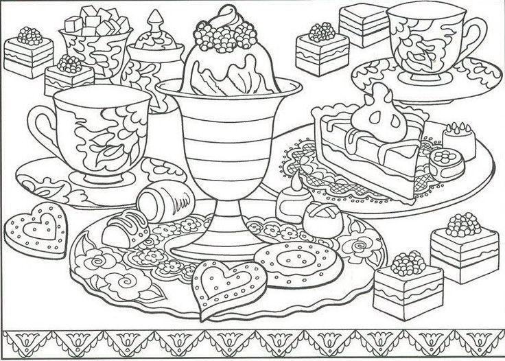 Mejores 212 imágenes de Food Coloring Pages en Pinterest | Colorante ...