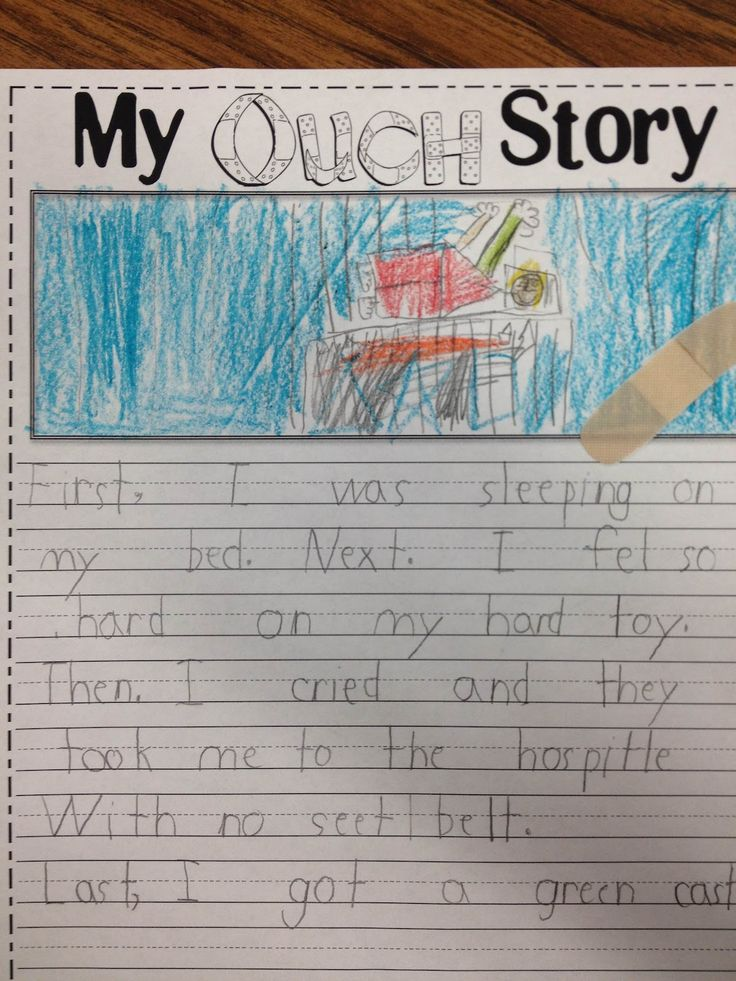 Ouch Story {freebie} for Common Core Writing. Lots of great ideas on