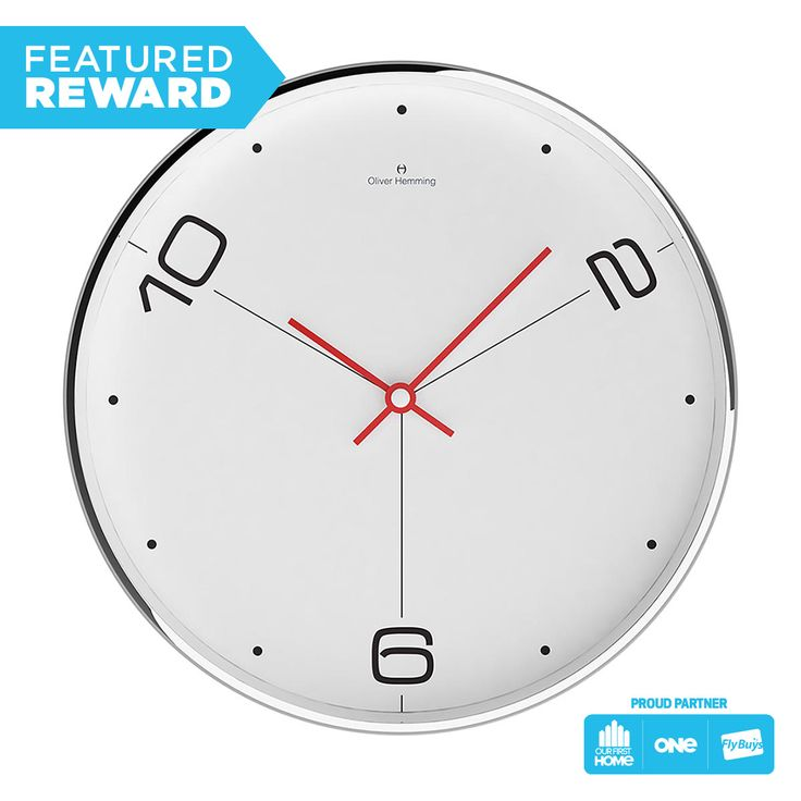 Oliver Hemming Chrome Wall Clock #flybuysnz #380points #OFHNZ