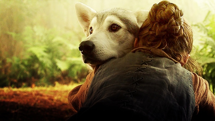 Arya and Nymeria ~ Game of Thrones