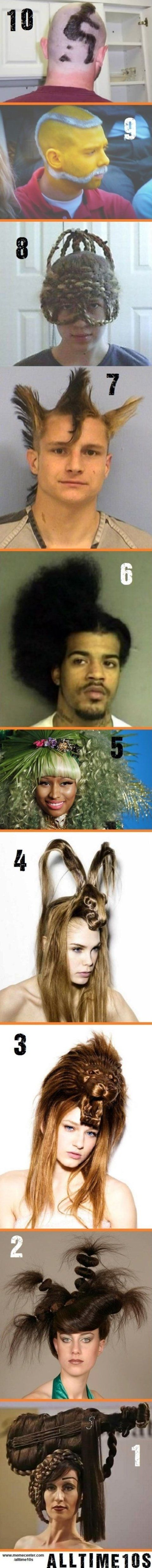 Top 10 Completely Bizarre Haircuts