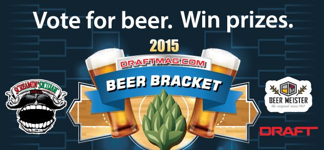 Here it is...the 6th Annual DRAFT BEER BRACKET, and this year is BIGGER and BETTER than ever!  The winning brewery takes home the DRAFT Cup, a custom trophy that will become the centerpiece of any taproom, and $1,000 for its charity of choice.  YOU can become eligible to win prizes from Beer Meister, the official sponsor of the 2015 DRAFT Cup.