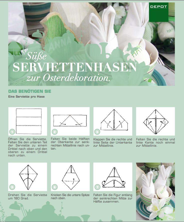 Osterhasen aus Servietten