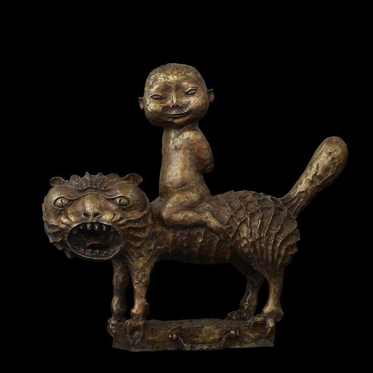 art-and-fury: Boy in the Cat - Dashi Namdakov