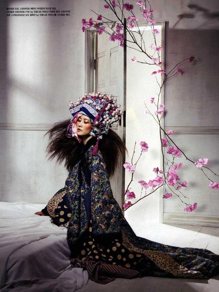 Fadeless Flowers   Lee Hyun Yi by Hyea W. Kang for Vogue Korea, June 2010