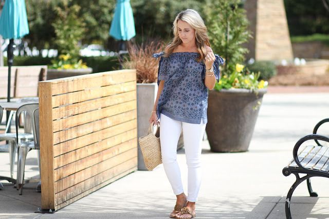 Two Peas in a Blog: Floral Chambray OTS + 3 Random Thoughts