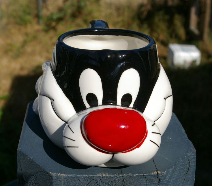 Sylvester Pussycat Cat Coffee Mug Looney Tunes Puddy Tat Merrie Melodies Warner  | eBay