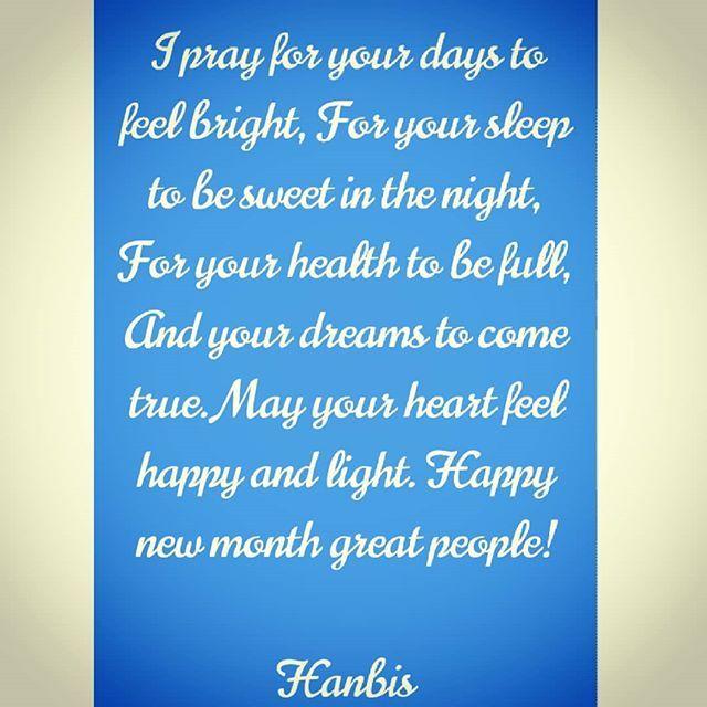 May the new month usher in abundant blessings for us!!!  . . . . . . #happynewmonth #love #happiness #food #decoration #quotes #positivevibes #jokes #memes #instagood #naija #Ibadan #lagos #abuja #portharcourt #kano #lekki #ajah  #naijamade #proudlynigerian #1hanbis #eatingrightlivingright