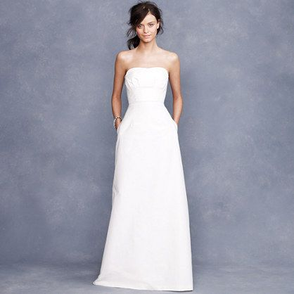 Miranda gown    JCrew. Simple, but could get a sash or something to embellish