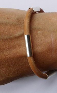 Belt bracelet in leather and silver by Scandinavian jewellery designer Silver och Betong - Nordic Design Collective