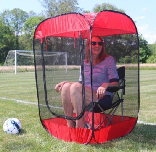 This pop up screen chair tent helps protect you from annoying mosquitos and other insects that keep you from enjoying the outdoors. This pop up tent not only serves as a shelter that keeps mosquitoes, deer flies, wasps, and bees out, but also allows a breeze to flow through the fine-weave mesh. | eBay!