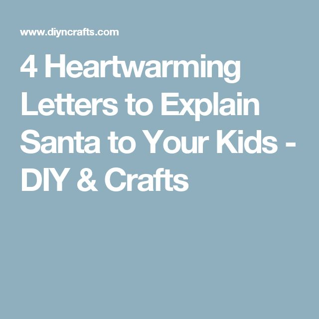 Best 25 letter explaining santa ideas on pinterest christmas 4 heartwarming letters to explain santa to your kids spiritdancerdesigns Images