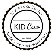KID Crew Logo - KID Crew is our way of making sure we focus on prevention and dental health education in a fun, creative new way for you and your children. Every child aged 0 to 17 that visits Slave Lake Dental will be enrolled in KID Crew.  Enrollment is FREE and there are no extra costs to be in KID Crew!  ​  The number #1 priority of KID Crew is getting your child through childhood CAVITY FREE! We have created brand new resources for both parents and children to help reach that goal.