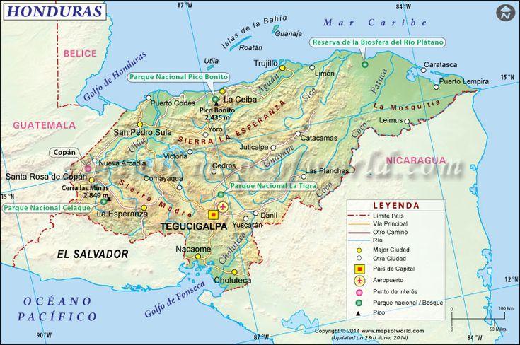#Honduras Mapa #mapsinspanish