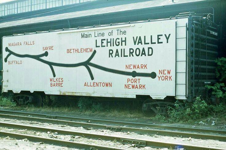 Lehigh Valley rail map boxcar LV/RDG/CNJ Pinterest