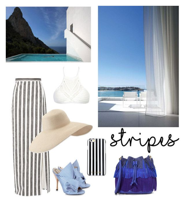 """Stripes"" by hofverholm on Polyvore featuring Balenciaga, WithChic, Folio, Eric Javits, MICHAEL Michael Kors, N°21, Sara Battaglia, contest and stripes"