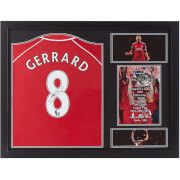 #All Star Signings Steven Gerrard Signed and Framed Liverpool Shirt #Born in the Liverpool suburb of Huyton in 1980, Steven Gerrard originally joined Liverpool FC as a YTS trainee and made his debut for the first team aged just 18. One of the best players of his generation, Steven Gerrard was Liverpool™s captain and led by example. The 2005 Champions™ League final in Istanbul highlighted his presence on the pitch and his incredible will to win. The official replica shirt is signed by…
