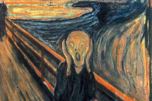 détaille , Le Cri peinte par Edvard Munch en 1893