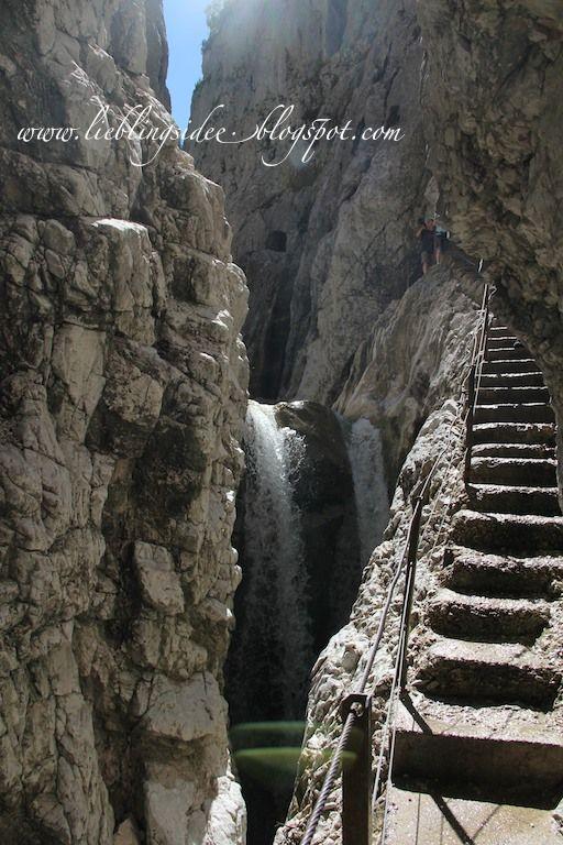 lieblingsidee: Alpenwanderung - Vom Kreuzeck durch das Höllental; Höllentalklamm, German Alps, http://lieblingsidee.blogspot.de/2012/10/alpenwanderung-vom-kreuzeck-durch-das.html#