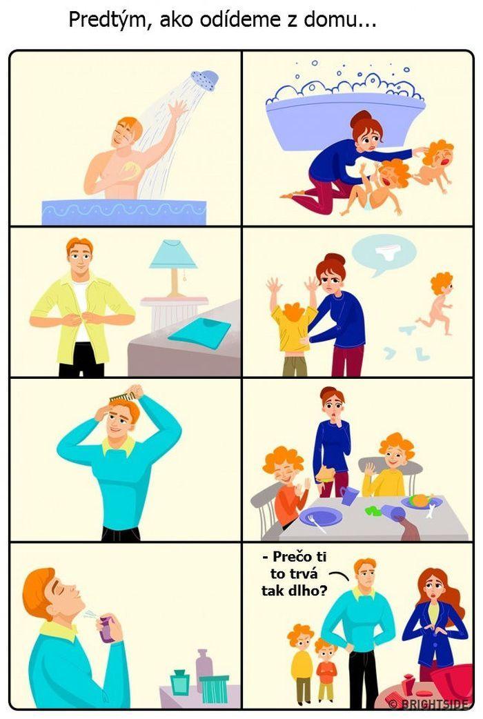 14 situácií, ktoré pozná každá mama na materskej dovolenke | Výstižné ilustrácie
