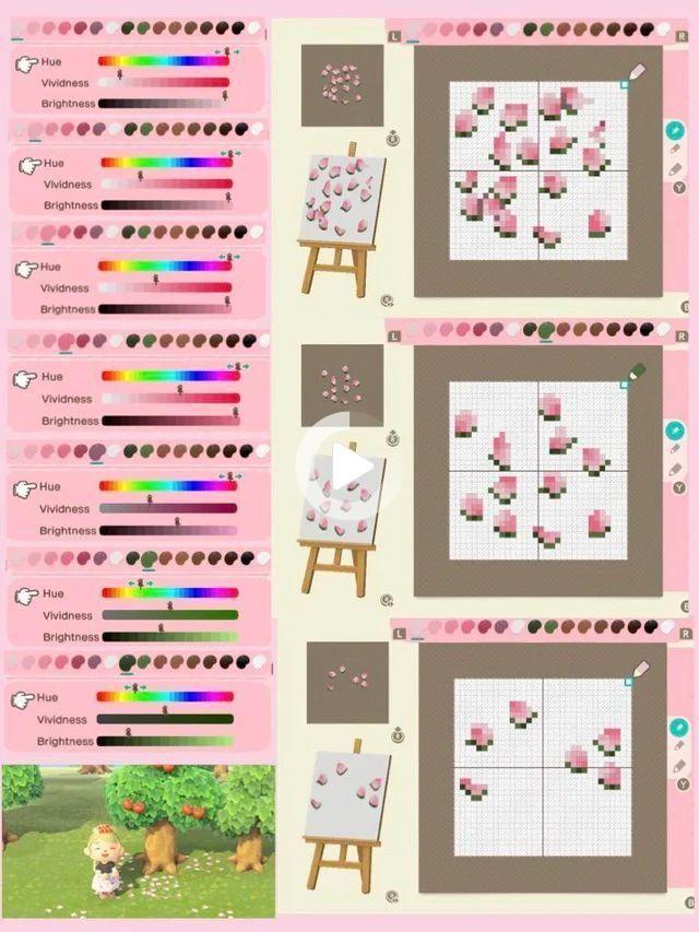 Grafolio In 2021 Animal Crossing Animal Crossing Qr Cherry Blossom Petals