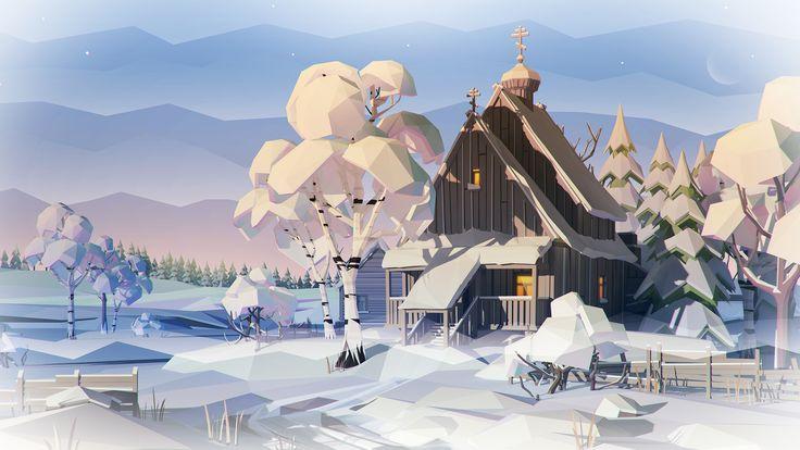 Snow Church by prusakov.deviantart.com on @DeviantArt