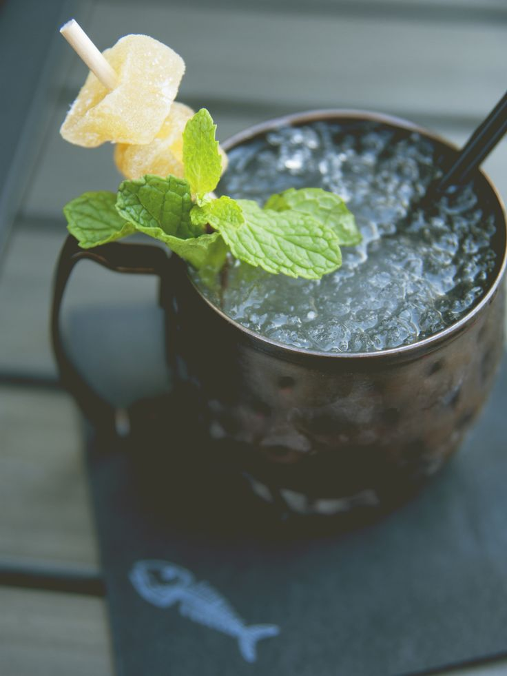 """MOSCOW MULE : """"it diverts from the classic Moscow Mule by adding a bit of mint and extra ginger syrup."""" // The Kitchy Kitchen"""