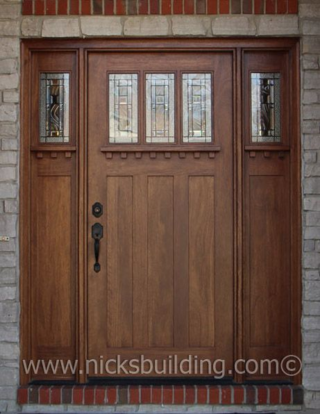 Special Walnut Stain Color On A Craftman Style Entry Door