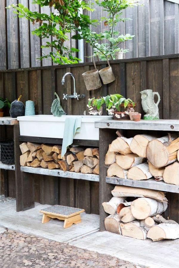 40 Awesome Garden Sink Ideas That Must Have To Outdoors Garden Sink Outdoor Kitchen Design Layout Simple Outdoor Kitchen