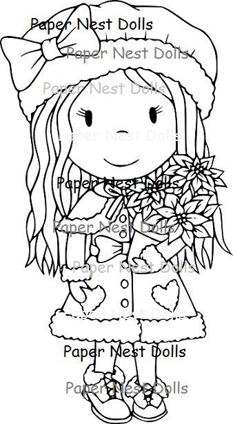 Rubber Stamps - Christmas Flower Avery