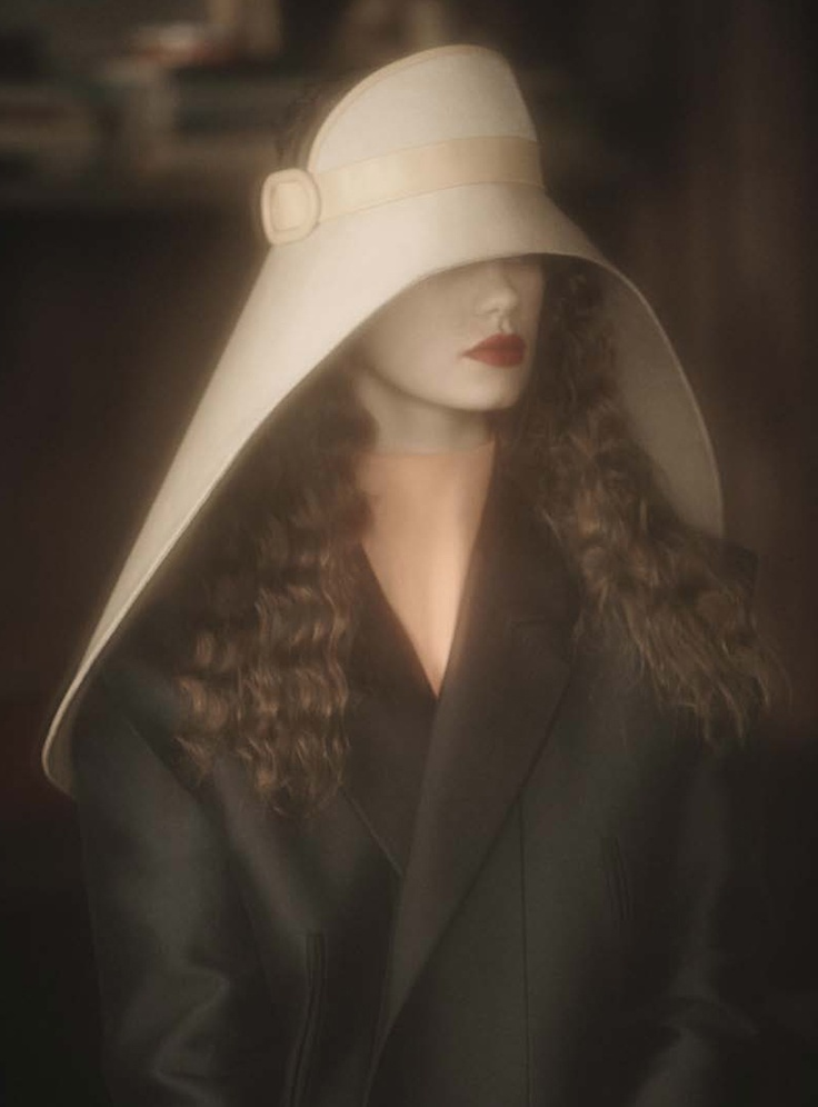 """Kelly Mittendorf in """"Le'Atelier d'Artiste"""" photographed by Sheila Metzner for Grey: Kelly Mittendorf, Models, Sheila Metzner, D Artists, Millinery Hats, Fashion Hats, Grey Magazines, Balenciaga Hats, Offices Fashion"""