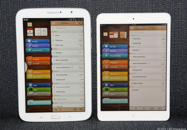 Samsung Galaxy Note 8 vs iPad Mini (1st gen)