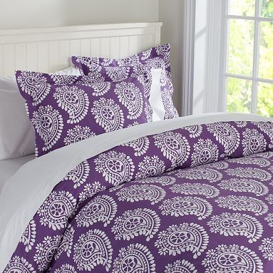 All Things Purple | all things purple / Punchy Paisley Duvet Cover & Sham | PBteen