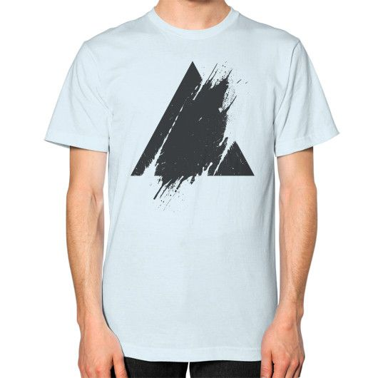 PLACE Splashed Triangle Unisex T-Shirt (on man)