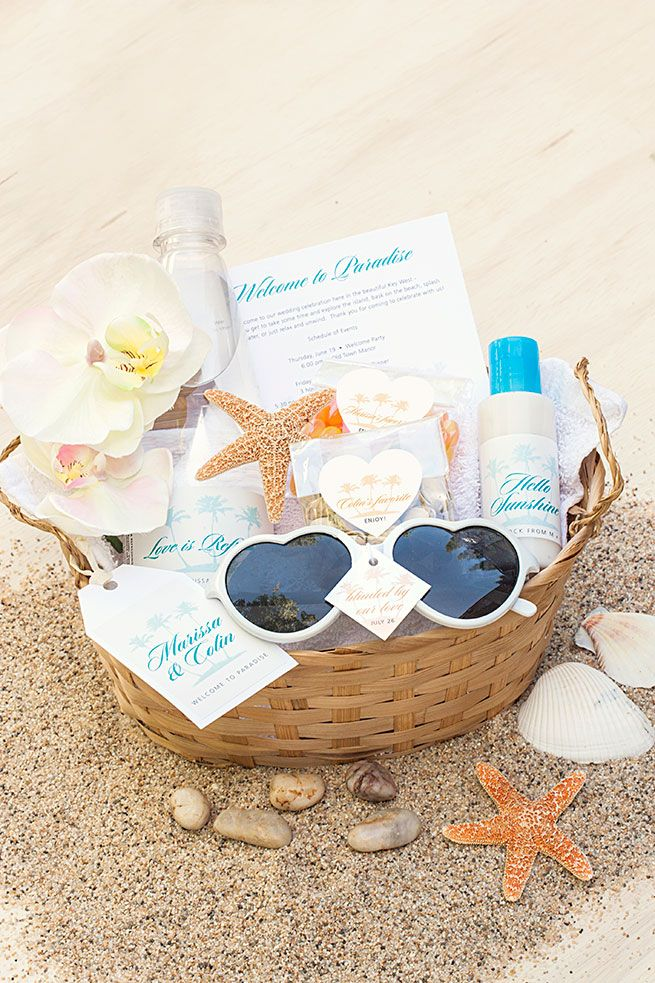 5 DIY Beach Wedding Welcome Basket Essentials