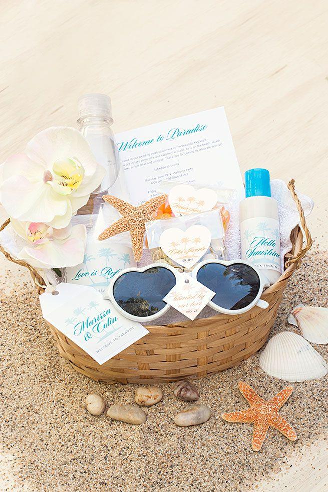 5 DIY Beach Wedding Welcome Basket Essentials