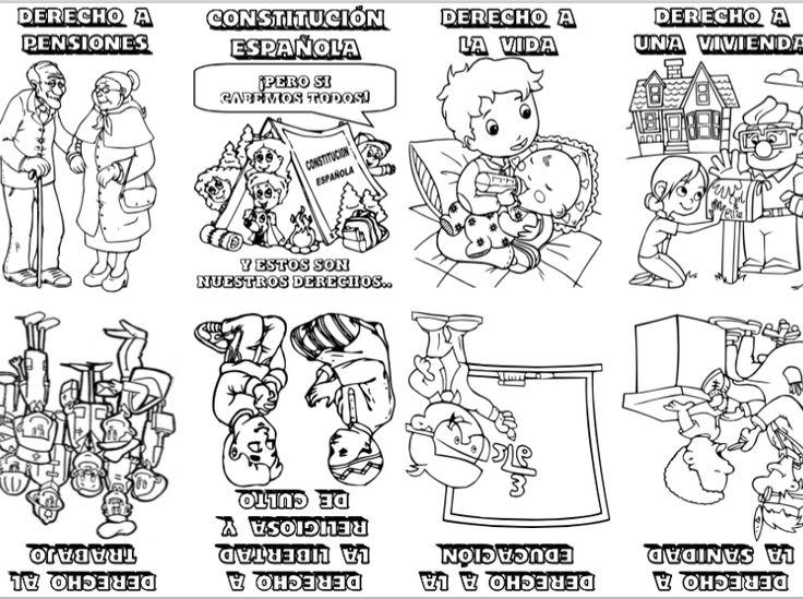 NiÑos Y Deberes Para Colorear: 74 Best Constitución Images On Pinterest