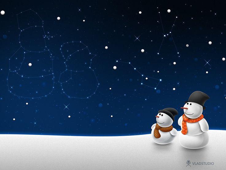 pupazzo di neve | Sfondo: Pupazzi di Neve