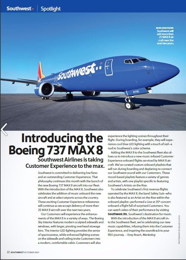Southwest Airlines 737 Max Southwest Airlines Southwest Book Rentals