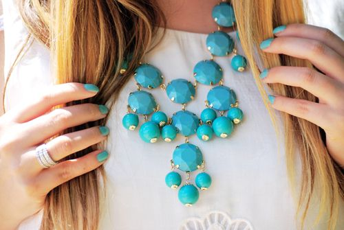 So obsessed with turquoise bib necklaces