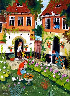 Garden of Pleasure by Marie-Louise Batardy - GINA Gallery of International Naive Art